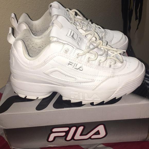 Fila Shoes | All White Filas | Poshmark